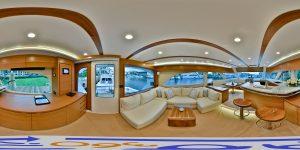 Bertram-Yachts-61-Galley-Entrance-AH360