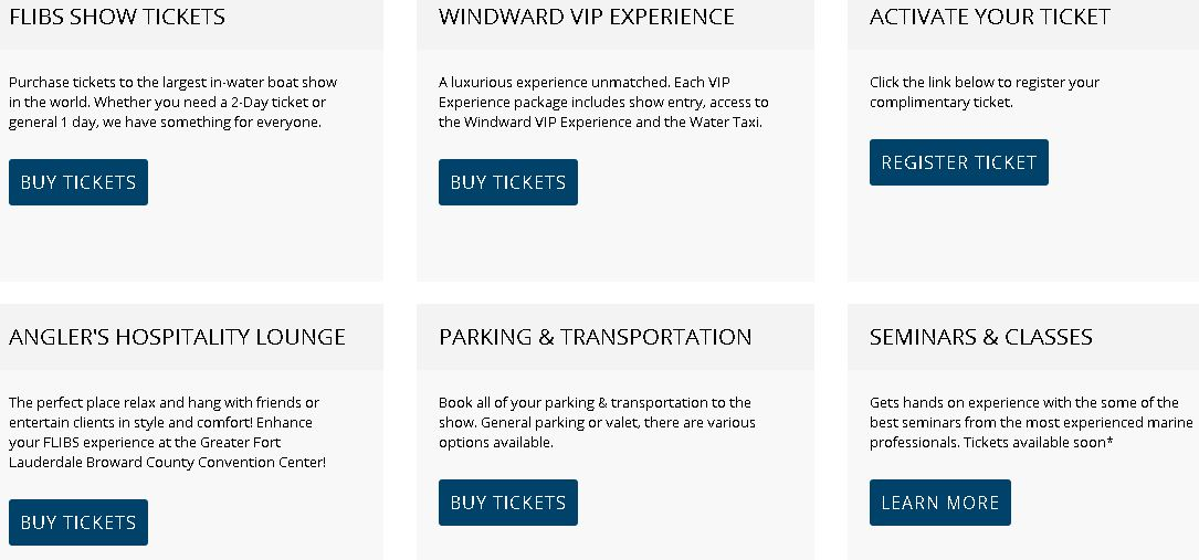 Fort Lauderdale Boat Show Tickets