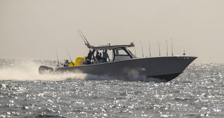 blackwater boat running waving