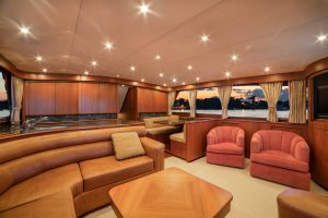 Merritt Sport Fishing Boat Interior salon