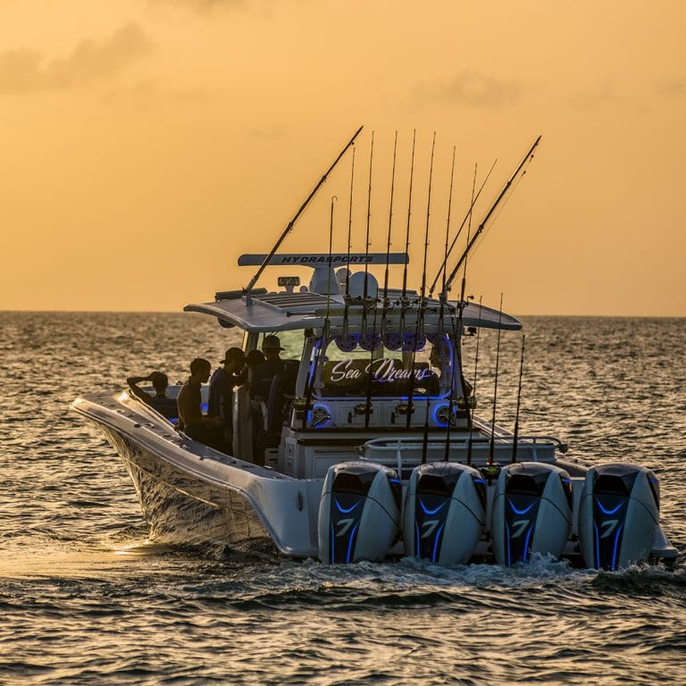 53 Suenos by HCB Yachts Fishing at Dusk