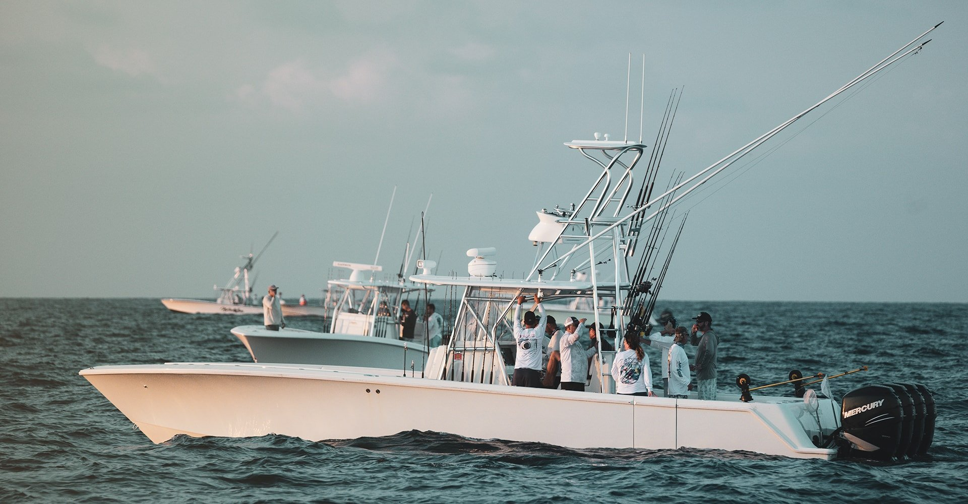 Seavee Fishing Boat In Fishing Tournament with Mercury Outboards