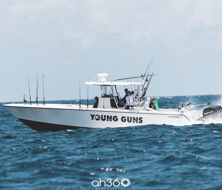 Young Guns Fishing Team In Contender Fishing Boat