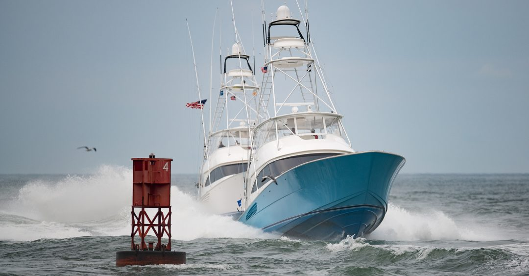 Sport Fishing Boats Returning From Fishing At White Marlin Open