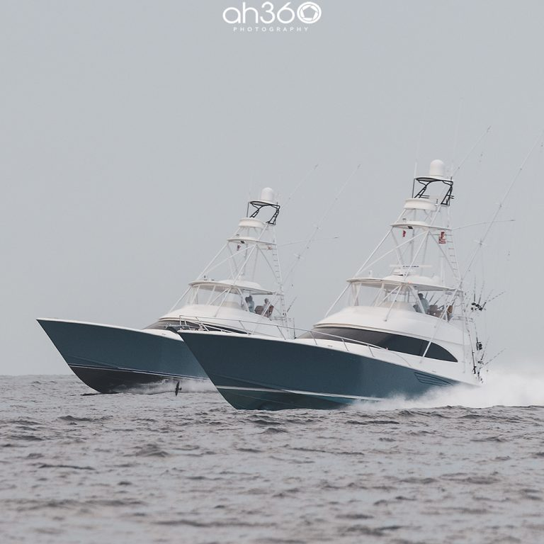 Two Viking Yachts Returning After Fishing Day
