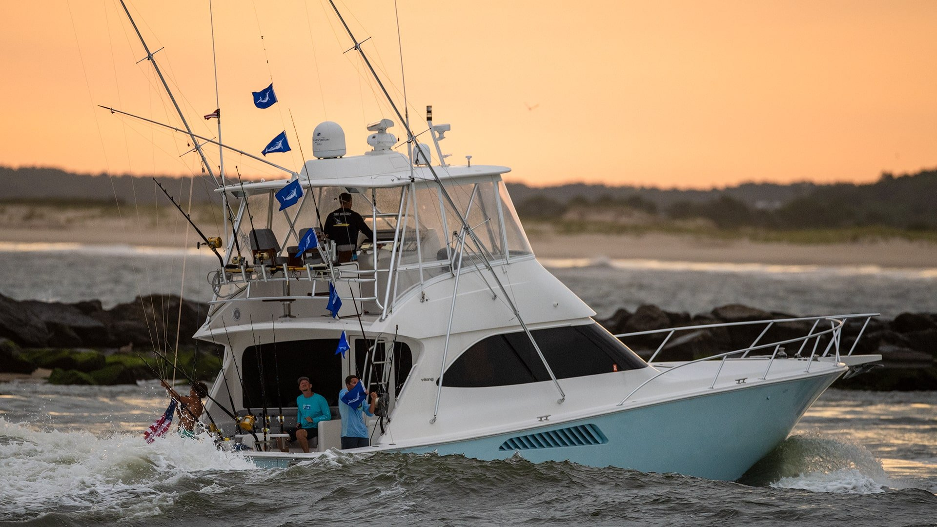 Viking Sport Fishing Boat At The 2019 White Marlin Open
