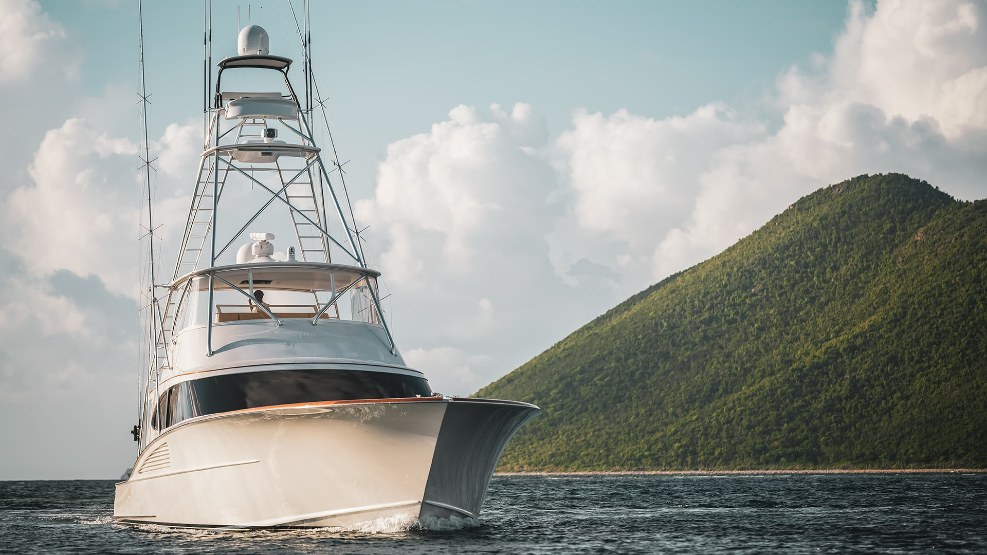 Sportfishing Yacht In The Virgin Islands
