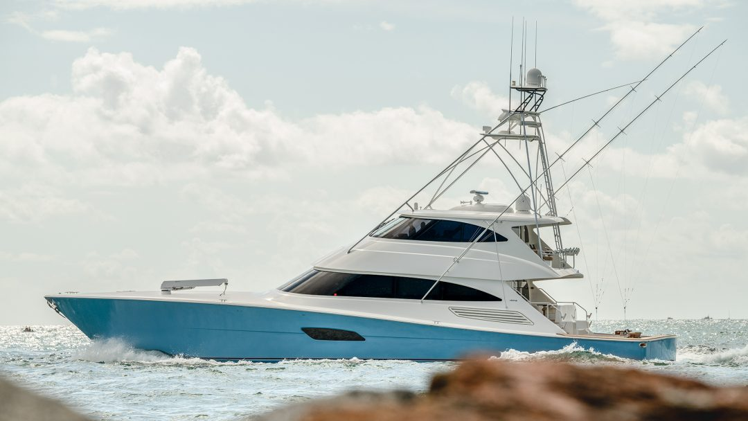 Large Sportfishing Yacht Picture